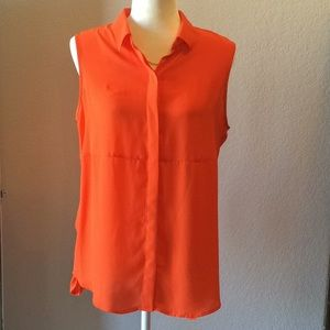 Apt. 9 sleeveless Orange Top